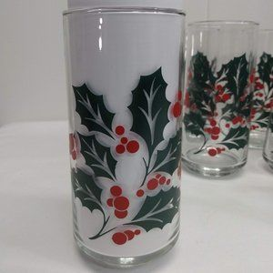 Lot of 15 Indiana Glass Holly Holiday Christmas